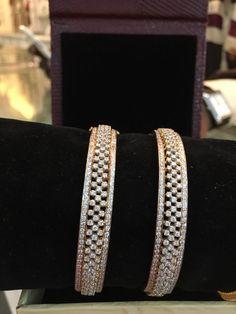 Bangle Not Enhanced Natural Fine Diamond Bracelets Diamond Bracelets, Diamond Jewelry, Gold Jewelry, Indian Jewelry Sets, Wedding Jewelry, Gold Wedding, Gold Bangles Design, Fancy Jewellery, Diamond Wedding Bands