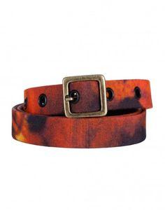 Fall Cynthia Rowley Printed Belt in Orange $95