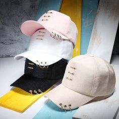 Cheap baseball cap, Buy Quality baseball cap fashion directly from China fashion baseball cap Suppliers: Fashion Baseball Caps With Rings For Women And Men's Casual Solid Color Spring Summer Cap Hip Hop Hat Casquette Cute Beanies, Cute Hats, Summer Cap, Spring Summer, Stylish Caps, Hip Hop Hat, Crop Top Outfits, Cute Girl Outfits, Clothing Hacks