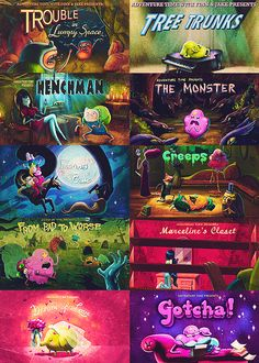 Adventure Time Title Cards
