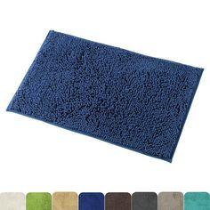 Non Slip Bathroom Rugs Absorbent Bath Mat Shower Rug Indoor Soft Mats 20x32  Inch