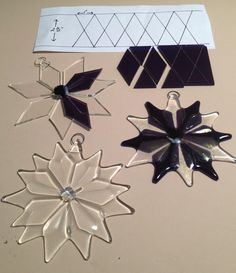 Dimensions for a fused glass snowflake                                                                                                                                                                                 More