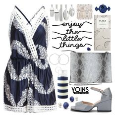 """""""#Yoins #Blue #Playsuit"""" by pastelneon ❤ liked on Polyvore featuring Oneida, Rosa & Clara Designs, Kate Spade and Judith Leiber"""