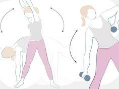 Praktyczne rysunki zaprezentują, jak dokładnie wykonać ćwiczenia na uda, brzuch i pośladki w domu. Pilates, Exercise, Disney Characters, Google, Pop Pilates, Ejercicio, Excercise, Work Outs, Workout