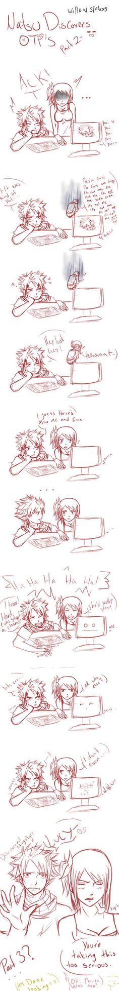 Natsu Discovers OTP's - Nalu II by willowspritex3 on DeviantArt