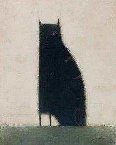 'The Black Cat', 2012, by British artist Paul Barnes.