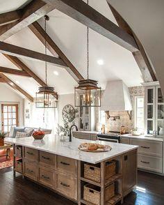 kitchen ideas. wood tone kitchen