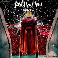 #Madonna #rebelhearttour #iconic opening  #MadonnaArtVision by @rodolfoabreu