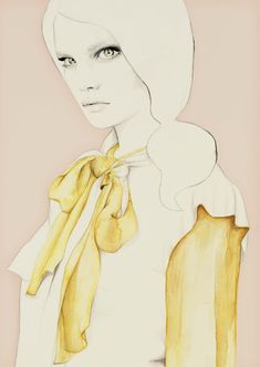<p>Australian Illustrator Elisa Mazzone sent us her latest illustrations series, exploring the female form through careful choices in color, shape, flowing line and embellishment. Elisa's 'ladie