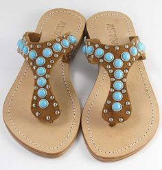 Mystique Brown Turquoise Sandals- Sandal World Mystique Sandals, Turquoise Sandals, Bow Shoes, Walk This Way, Palm Beach Sandals, Tiffany Blue, Bling Bling, My Style, Brown