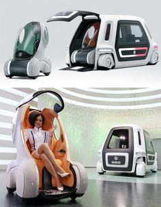 Suzuki PIXY and SSC concept is a vehicle that can hold two separate pods for futuristic traveling.