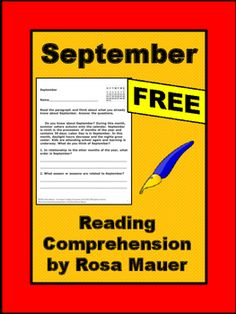 Receive a FREE reading passage about September with 10 comprehension questions…