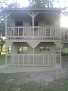 Front view of the playhouse