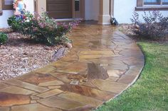 stamped concrete flagstone pattern   with concrete the possibilities are endless concrete is great for