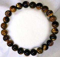 Tigerauge Heilstein Perlen Armband