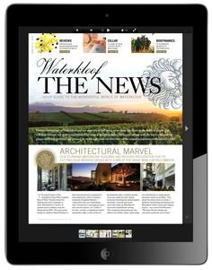 Premium wine farm WATERKLOOF WINE ESTATE recently commissioned PURE PUBLISHING to create a bespoke custom publication for them in the format of a luxury newspaper, in print through to digital media