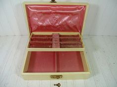 Vintage Mele Style Hard Shell Jewelry Box  Retro by DivineOrders, $12.00