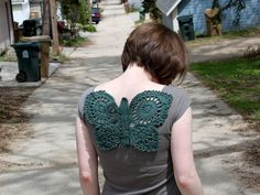 Crochet Butterfly Adornment by brineydeep4,