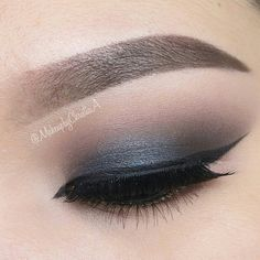 LORAC PRO 1.Start with a nicely filled brow and primed lid 2. Warm up the crease with 'mauve' 3. Apply 'black' to the outer V 4. Apply 'slate' to the lid 5. Highlight browbone and inner corner with 'white' 6. Line the upper lash line and wing it out 7. Line the waterline and apply 'gold'
