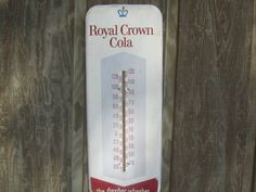 Royal Crown Cola Thermometer, Vintage Soda Collectible, Cola Advertisement, antique metal sign, by KarensChicNShabby on Etsy