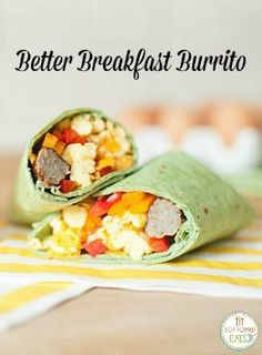 This healthy breakfast burrito is better than any white-flour, grease-bomb burrito you may be accustomed to. | Fit Bottomed Eats