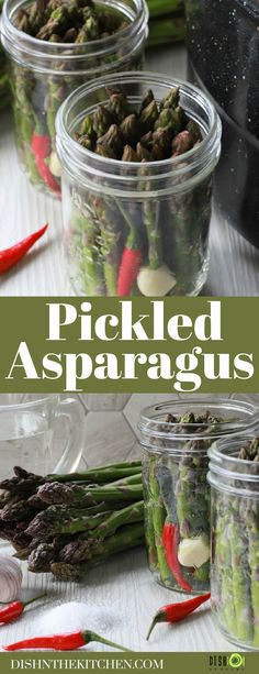 Wondering how to make the best Pickled Asparagus for your cocktails and charcuterie boards? This small batch recipe shows how easy it is to preserve Asparagus at it's prime. Best Side Dishes, Healthy Side Dishes, Vegetable Side Dishes, Vegetable Recipes, Delicious Vegan Recipes, Vegetarian Recipes, Yummy Food, Healthy Recipes, Pickled Asparagus