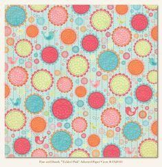 Fine & Dandy 'Tickled Pink' Adorned Paper