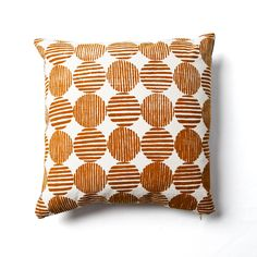 Striped Circle Pillow by Rebecca Atwood