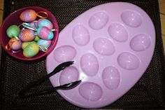 Tot Trays - Easter themed