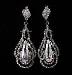 Chandelier Crystal Bridal Earrings Art Deco by BeFrostedBridal, $53.00