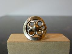 Vintage Silver Modern Style Flower Ring by FourSailAccessories, $34.00