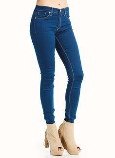 high-waisted skinny jeans $37.60