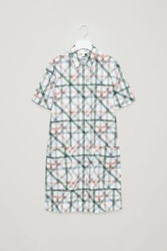 COS image 2 of Shirt dress with large pockets in White