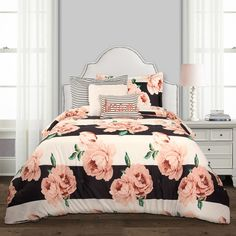 Lush Decor sells a variety of colorful bold and colorful dorm room comforter sets, such as the Amara Floral Comforter Set Back To Campus Dorm Room Bedding online. Dorm Room Bedding, Teen Bedding, Teen Comforters, Girls Comforter Sets, Bedspreads, Girl Room, Girls Bedroom, Bedroom Decor, Bedroom Ideas