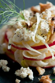 Apple Fennel Salad with Macadamia Cheese