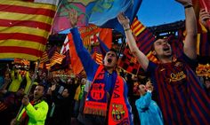 """The Guardian: Catalans celebrate their difference – up to a point. Whenever Barcelona football club plays another European team, someone in the crowd will hold up a banner in English that reads """"Catalonia is not Spain"""" just to remind TV viewers that Catalonia is different."""