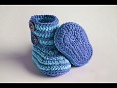 how to crochet baby booties step by step - YouTube