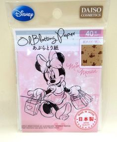 DAISO JAPAN Oil Blotting Paper Disney Minnie Pattern-filled 40 sheets F/S #DAISO