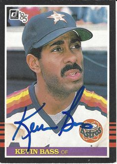Kevin Bass AUTOGRAPHED Baseball Trading by FloridaFindersSports