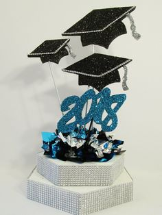 """Products – Tagged """"grad caps graduation centerpiece"""" – Designs by Ginny Graduation Table Centerpieces, Graduation Desserts, Pre K Graduation, Graduation Party Planning, Reunion Centerpieces, Graduation Decorations, Wedding Centerpieces, Candle Centerpieces, Quinceanera Centerpieces"""
