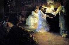 Gabriel Deluc - .Jeunes Filles au Piano, 1906