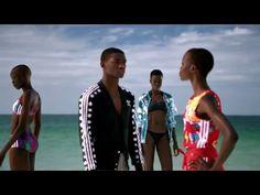 ADIDAS ORIGINALS X PHARRELL WILLIAMS PINK BEACH COLLECTION FILM