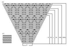 """Sea Nymph / DROPS 168-1 - Pulóver de punto DROPS con raglán, patrón de calados y mangas ¾, en """"Muskat"""". Tejido de arriba para abajo. Talla: S – XXXL. - Free pattern by DROPS Design"""
