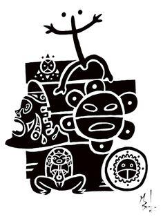 Taino tattoo by M Bentz Taino Tattoos, Native Tattoos, God Tattoos, Indian Tattoos, Taino Symbols, Puerto Rican Culture, Real Tattoo, Henna Tattoo Designs, My Roots