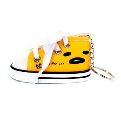 Gudetama Keyring Faces Print Sneaker ($6.95) ❤ liked on Polyvore featuring shoes, sneakers, patterned shoes, hi tops, print shoes, high top trainers and high-top sneakers