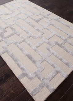 RugStudio presents Addison And Banks Hand Tufted Abr0267 Silver Gray / Medium Gray Hand-Tufted, Best Quality Area Rug