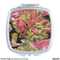 French Tulips Makeup Mirror