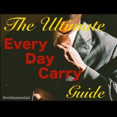 Every Day Carry or EDC is the minimal amount of gear I need – and can carry – on a daily basis to protect myself and others and survive whatever life throws at me.  Like and share. Let me know what you think in the comments. www.codenamedad.com