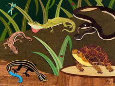 Reptile Gathering Canvas Art