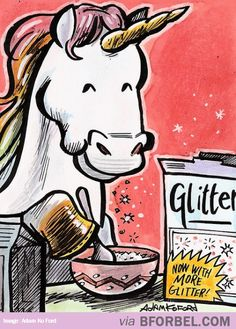What Unicorns Eat For Breakfast… From: http://www.bforbel.com/2014/02/what-unicorns-eat-for-breakfast.html